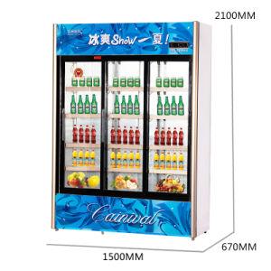 777L Vertical Below Unit Automatic Sliding Door Showcase with LED Light pictures & photos