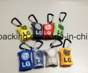Custom Microfiber Key Chain Cleaning Cloth with Hook pictures & photos