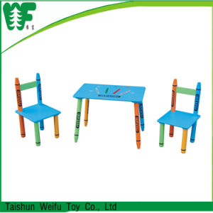 High Quality Hot Selling Kid′s Wooden Table and Chairs Classroom Desk and Chair pictures & photos