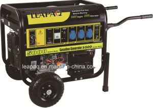 5.0kw Wheels & Handle F-Type Portable Gasoline Generator pictures & photos