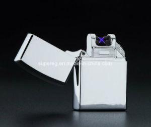High quality Cross Double Arc Lighter USB Pulse Windproof Lighters pictures & photos