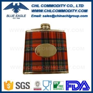 Factory Spray Paint Embossed Matte Polish Hip Flask Manufacturer pictures & photos