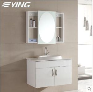 PVC/Solid Wood Modern Wall-Hung Cabinet with Basin