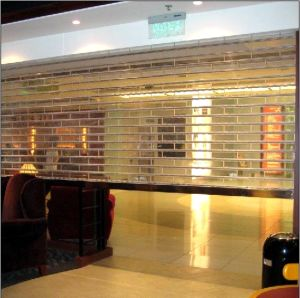 Overhead Transparent Soft Curtain Grilles Full View Rolling Door (Hz-TD026) pictures & photos