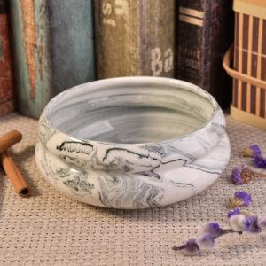 Unique Design Bowl Shape Marble Ceramic Candle Jar Holder pictures & photos