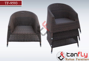 Wholesale Restaurant Used Round Rattan Wicker Stackable Chair