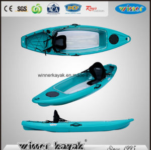 Single Paddler Bottom Transparent Fishing Kayak with Parent pictures & photos