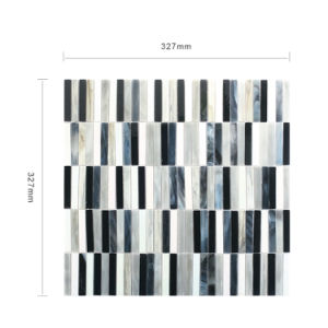 Colorful Black and White Floor Tile Wholesale Glass Mosaic pictures & photos