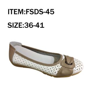 Hot Selling Lady Casual Leather Shoes Leisure Shoes (FSDS-45) pictures & photos