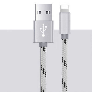 0.25m/1m/1.5m/2m/3m Braided Tiger Skin 8pin USB Charging Cables pictures & photos
