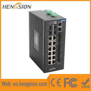 Managed 22 Ports SFP Industrial Ethernet Network Switch pictures & photos