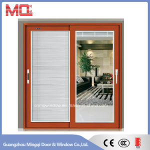 Grey Color Aluminum Sliding Door with Double Glass Mqd-01 pictures & photos