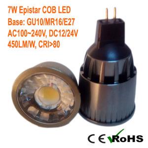 30 Degree Beam Angle 7W MR16/GU10/E27 COB LED Ceiling Spotlight pictures & photos