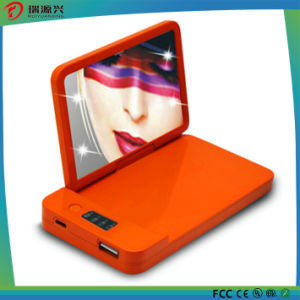 lithium battery 4000mAh Ultrathin Power Bank with LED Lighting Mirror pictures & photos