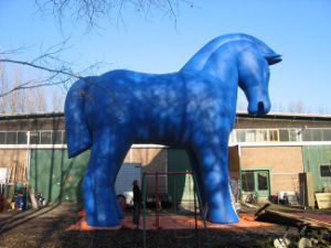 Hot Sell PVC Animal Blue Horse for Outdoor