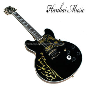 Hanhai Music / Semi-Hollow Black 335 Electric Guitar (BBKING) pictures & photos