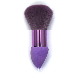 Purple Double Makeup Sponge and Makeup Brush pictures & photos