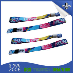 Fashion Personalized Polyester Wristbands for Festival pictures & photos