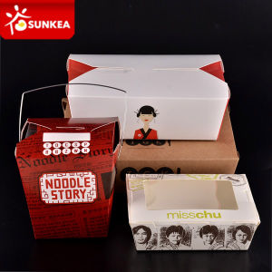 Disposable Paper Chinese Food Container with Window pictures & photos