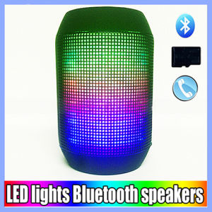 Portable Mini Wireless Bluetooth Pulse Speaker with Colorful LED Lights Support TF Cards FM Radio pictures & photos