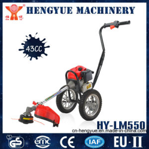 Hy-Lm550 52cc Gasoline Engine Brush Cutter with Wheels pictures & photos