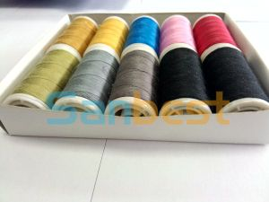 High Quality Spun Polyester Sewing Thread on Small Reels pictures & photos