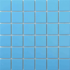 blue ceramic mosaic tiles for swimming pool