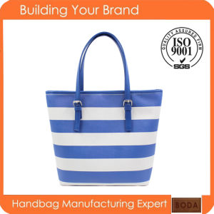 Wholesale Certification Printing Fashion Polyester Iadies Tote Bag (BDM060) pictures & photos