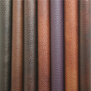Top Quality World Class Upholstery Material Synthetic PVC Furniture Leather pictures & photos