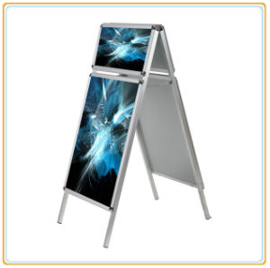 A1 Aluminum Double Side Poster Stand pictures & photos