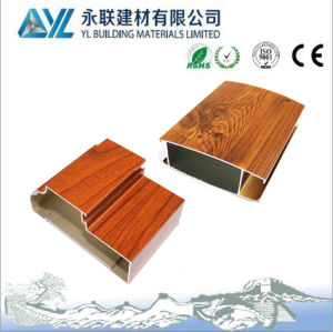 Wood Grain Finished Extrusion Aluminum Profile for Aluminum Window Frame pictures & photos