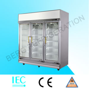Commercial Upright Glass Door Showcase Refrigerator with Ce pictures & photos