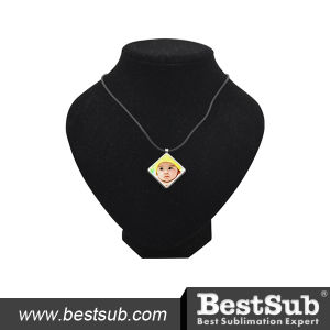 Bestsub Diamond-Shaped Zinc Alloy Personalized Necklace (XL09)