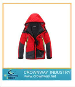 Mens Waterproof High Quality Ski Jacket with Adjustable Hood (CW-MSKIW-75) pictures & photos