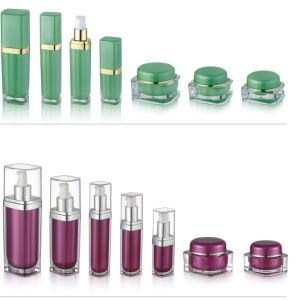 Acrylic Square Jars and Bottles for Cosmetic Packaging pictures & photos