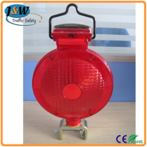 Solar LED Warning Light with Holder Mounted at Traffic Board pictures & photos