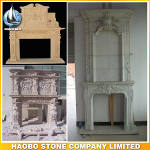 Hand Carved Fireplace Ornament Classic Stone Custom Design pictures & photos