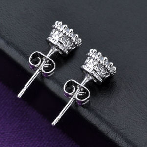 Bridal Jewelry Silver Color Rhodium Single Crystal Stud Earring pictures & photos