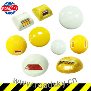 Wholesaletraffic Safety White or Yellow Warning Ceramic Road Studs pictures & photos