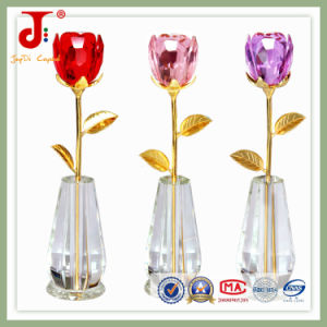 Crystal Decoration Flower with Vase (JD-CF-105) pictures & photos