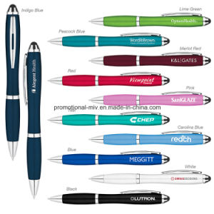 Promotional Touch Screen Pens Curvaceous Ballpoint Stylus pictures & photos