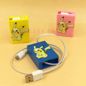 Hot Pikachu Retractable Charging /Data Cable Box for iPhone/Samsung