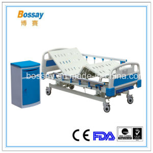 Manual Bed for ICU Three Cranks ICU Bed Medical Bed pictures & photos