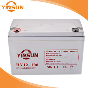 12V100ah Lead Acid Battery for Home Solar Energy PV System pictures & photos