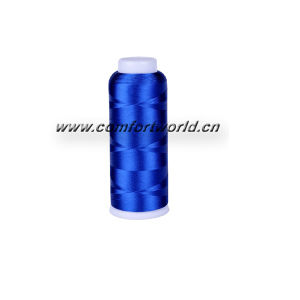 Polyester Embroidery Thread with Red Cover Cone pictures & photos
