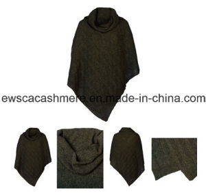 Women′s Poncho Style Pure Cashmere Knitwear