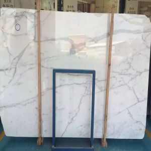 Polished Snow Flower White Marble Slabs pictures & photos