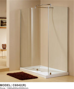 8mm Glass Square Corner Cheap Shower Enclosures