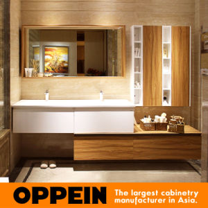 Oppein Euro Style High Glossy Lacquer Bathroom Cabinets (OP15-050A) pictures & photos