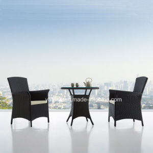 Outdoor Cheap Garden Set Aluminum Frame PE Rattan Coffee Set (YTA026&YTD413-10) pictures & photos